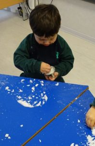 Nieve artificial en Nursery